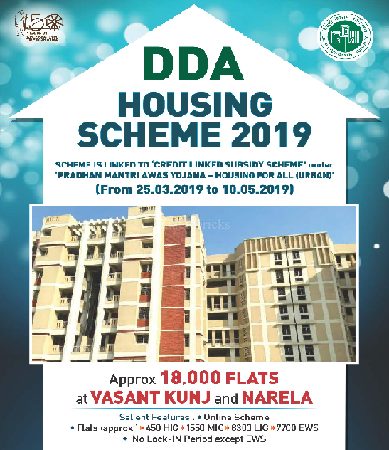 DDA Housing Scheme 2019 offers 18,000 flats