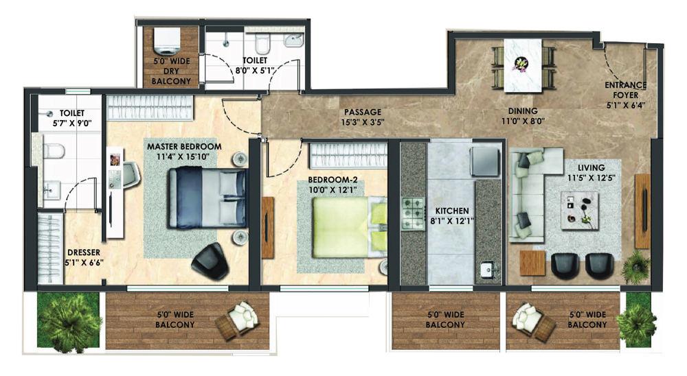 Adani Atelier Greens In Koregaon Park Pune Price Brochure Floor Plan Reviews