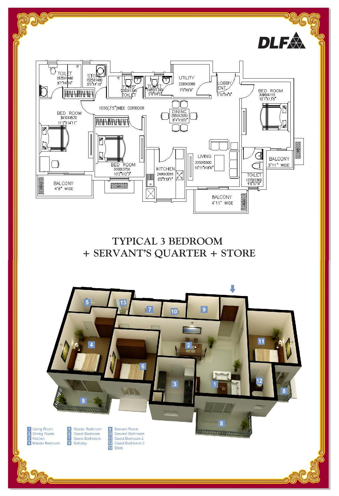 Dlf New Town Heights In Kakkanad Kochi Price Brochure Floor Plan Reviews