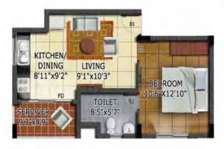 Studio Apartment Chennai mandarin in omr, chennairadiance realty developers india