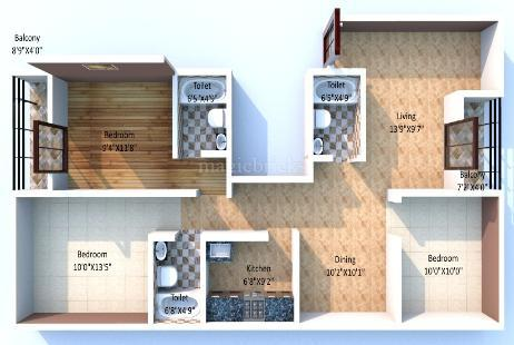 Jmc sparklin in durgapur durgapur magicbricks for Jmc homes floor plans