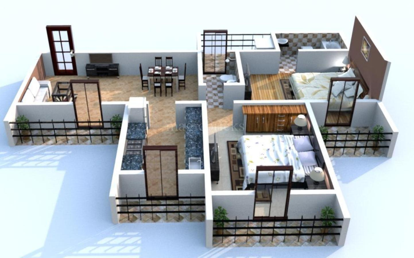 2 BHK Multistorey Apartment In Akshar Alvario At Nerul Image