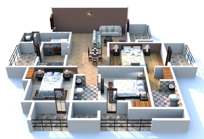 Buy 3 Bhk Flat Apartment In Gaur Saundaryam Noida
