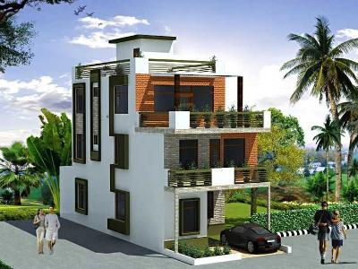 3d front elevation 10 marla modern architecture house plan for Best dizain home