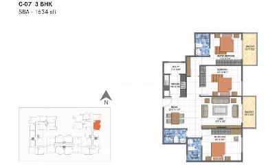 3 bhk flats in yelahanka bangalore 334 3 bhk for Kitchen 6 yelahanka