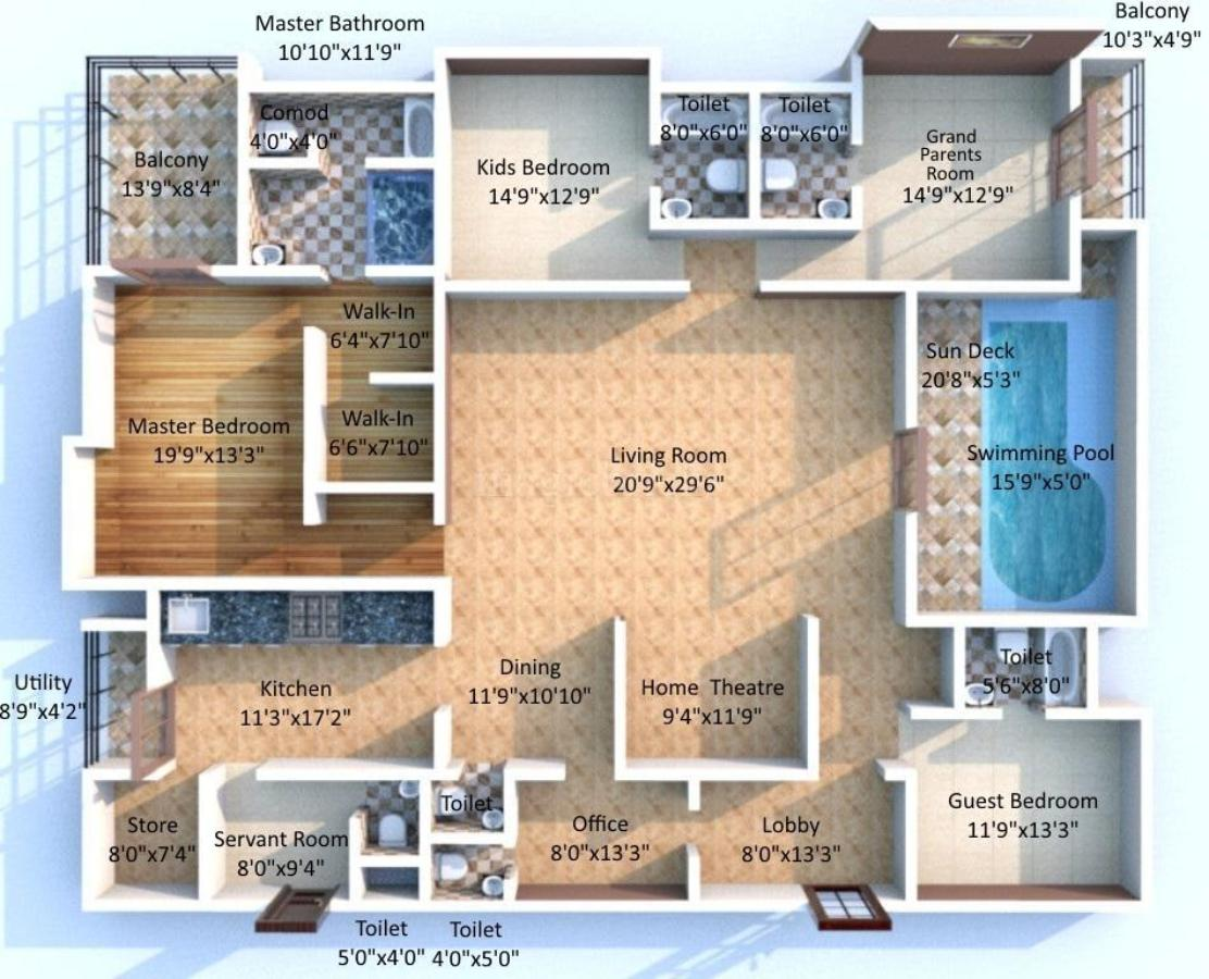 Apartment Floor Plans In Hyderabad lodha bellezza in hitech city, hyderabad @ rs 2.4 cr onwards