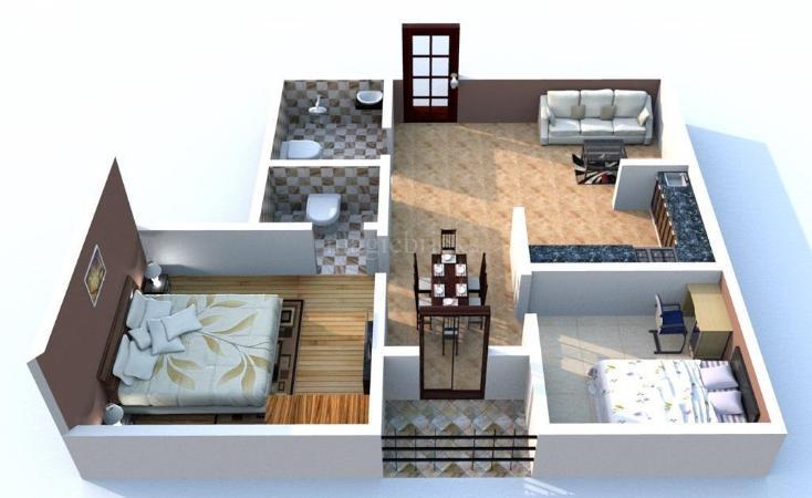 Buy 1 bhk flat apartment in dream world city joka kolkata for Guntha to sq ft