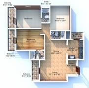 2 bhk apartment for rent in skyline bagmane champagne hills gottigere sqft