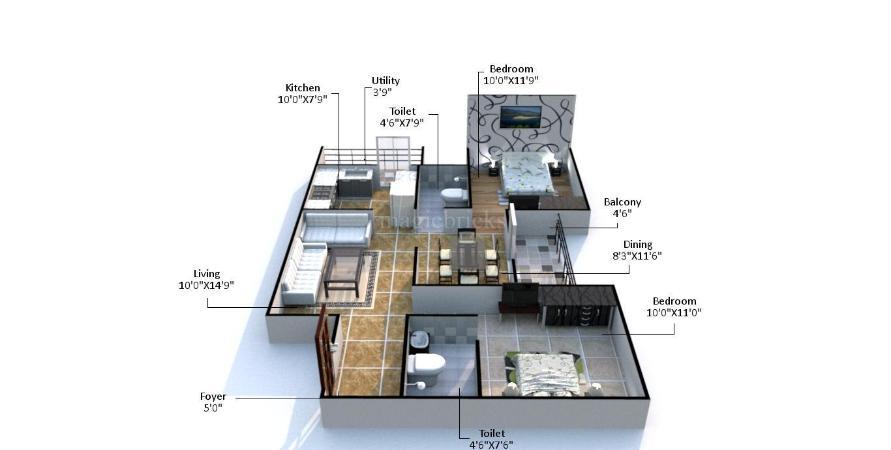 Buy 2 bhk flat apartment in pacifica aurum padur chennai for Guntha to sq ft