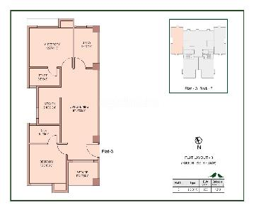 2 BHK Flat/Apartment for Sale in Airport Area, Kolkata