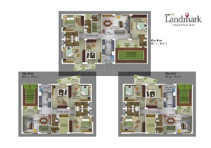 Buy 3 BHK Flat/Apartment in Landmark Bailey Road, Patna