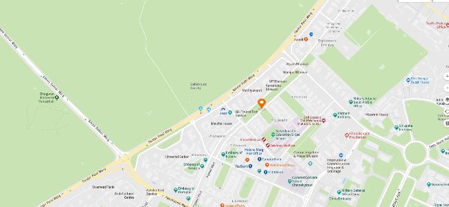 Buy 5 BHK Builder Floor Apartment in Chanakyapuri, New Delhi - 6100 Chanakyapuri New Delhi Map on